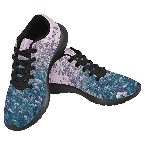 InterestPrint Womens Jogging Running Sneaker Lightweight Go Easy Walking Casual Comfort Running Shoes Vintage Purple Buckwheat Field Multi 1 eNWD62Fv