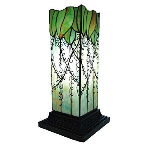 River of Goods 17-Inch Tiffany Style Stained Glass Hurricane