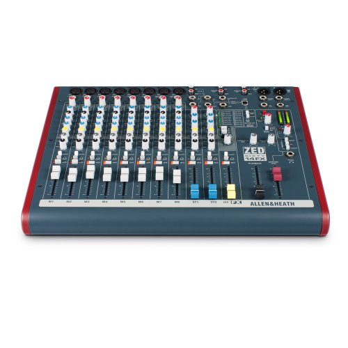 Sound Digital Live Mixer - Allen & Heath ZED60-14FX Compact Live and Studio Mixer with Digital FX and USB Port