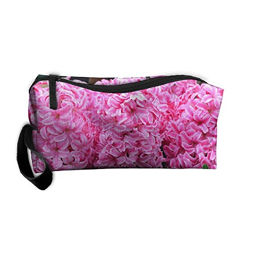 Makeup Bags For Women Cosmetics Case With Zipper Hyacinth Pink Pearl Travel