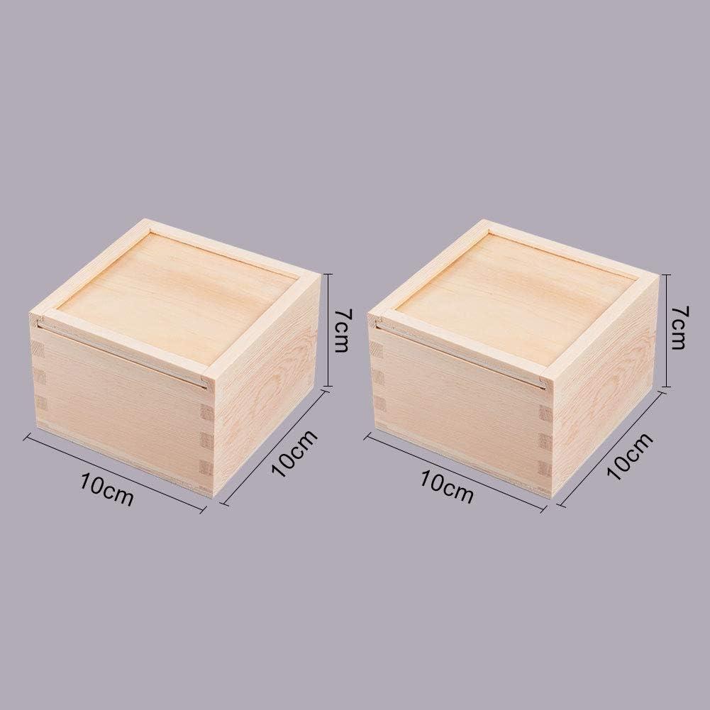 WANDIC Caja de almacenamiento, caja de almacenamiento de madera con tapa deslizante para guardar accesorios, cosméticos, papelería, hogar, oficina, escuela: Amazon.es: Hogar
