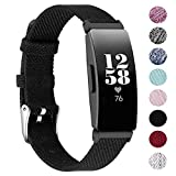 EZCO Bands Compatible with Fitbit Inspire HR & Inspire, Woven Fabric Breathable Watch Strap Quick Release Replacement Wristband Accessories Women Man Compatible with Inspire Smart Watch