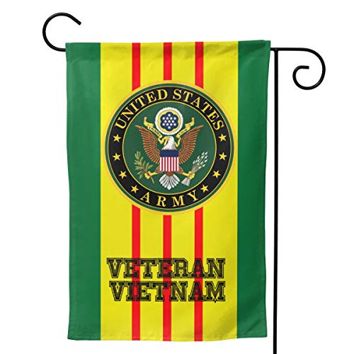 M7UUR Vietnam Veteran United States Army Double-Sided Decorative Garden Flag Home House Flag -12.5x18inch | 28x40inch
