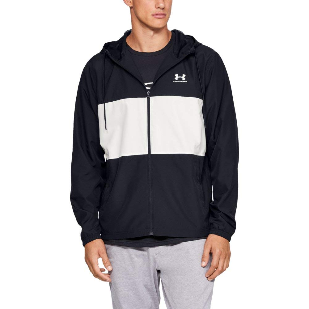 Under Armour Men's sportstyle Wind Jacket, Black//Onyx White, Medium by Under Armour