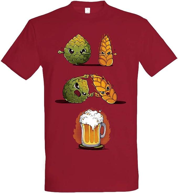 Pampling Beer Fusion - Cerveza, Camiseta Hombre: Amazon.es: Ropa y accesorios