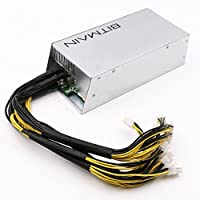Power Supply for Bitmain AntMiner (APW3++ 1200W@110v 1600W@220v w/ 10 Connectors)