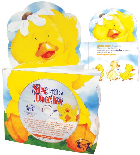 Six Little Ducks (Die Cut Board Book and Music CD Set) (Growing Minds with Music (Board))