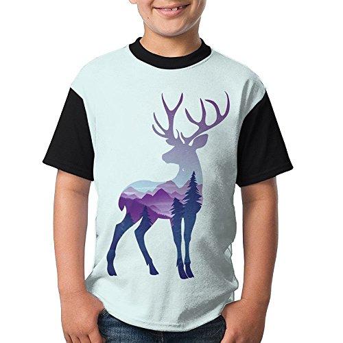 ENGJDHEH Color Deer Teenager T Shirt Teen Short
