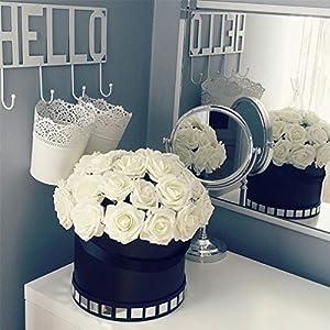 25 Heads 8CM PE Foam Artificial Rose Flowers Wedding Bride Bouquet Home Decor Rose Flowers DIY Party 60