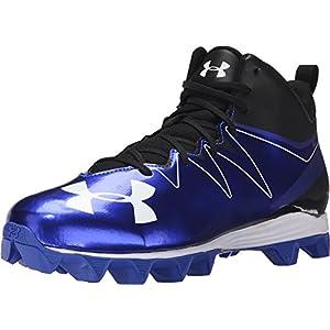 Under Armour Men's UA Hammer Mid RM Black/Team Royal Sneaker 8 D (M)