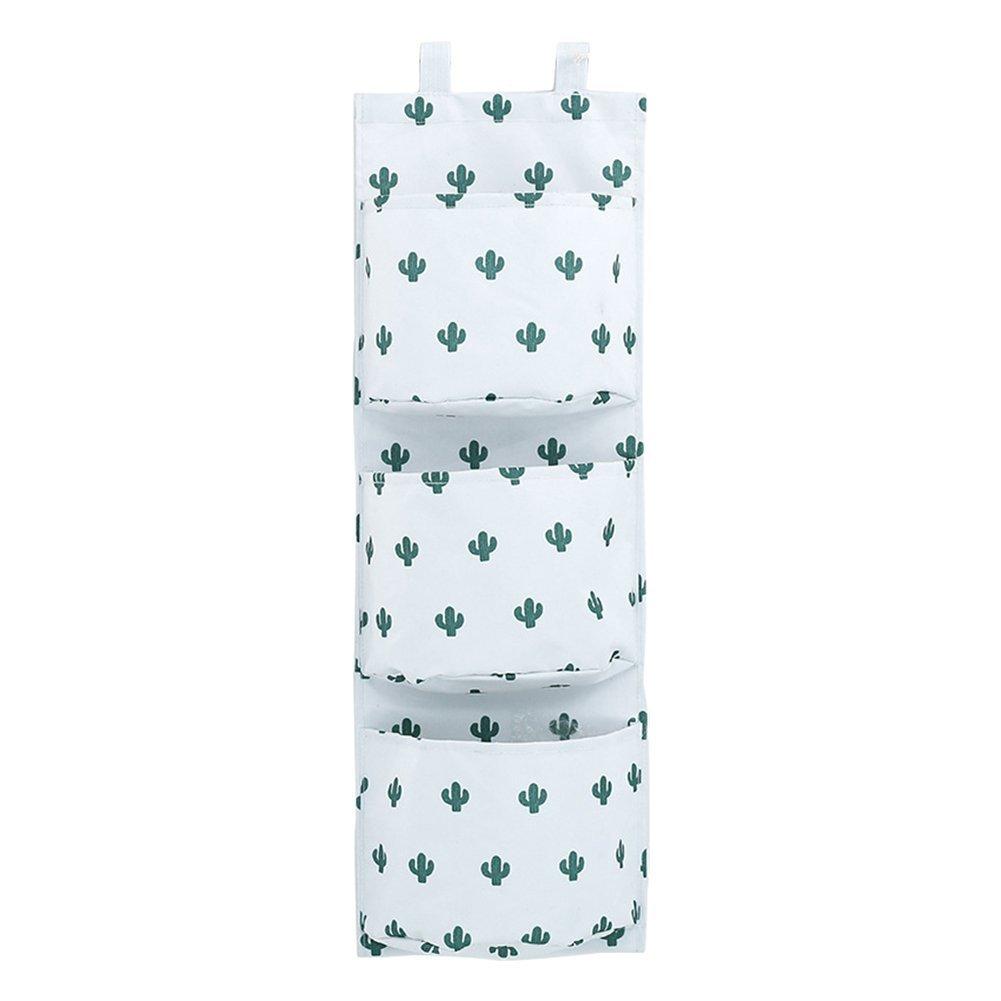 LAAT H/ängende Aufbewahrungstasche H/ängeorganizer Bad Korb Tuch Aufbewahrungstasche und Baumwolle Wand Veranstalter Tasche Size 57cm*20cm*14cm