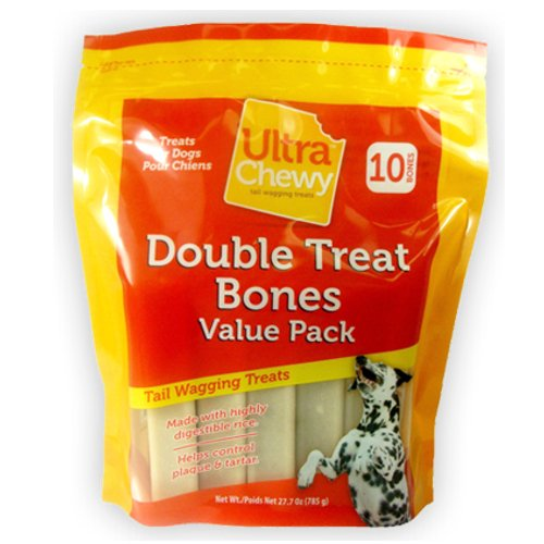 Ultra Chewy Double Treat Bone, 27.7-Ounce Bags (Pack of 3), My Pet Supplies