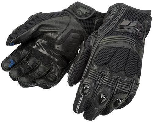 Fieldsheer Mistral Mesh Men's Leather On-Road Racing Motorcycle Gloves - Black / Large - Fieldsheer Street Bike