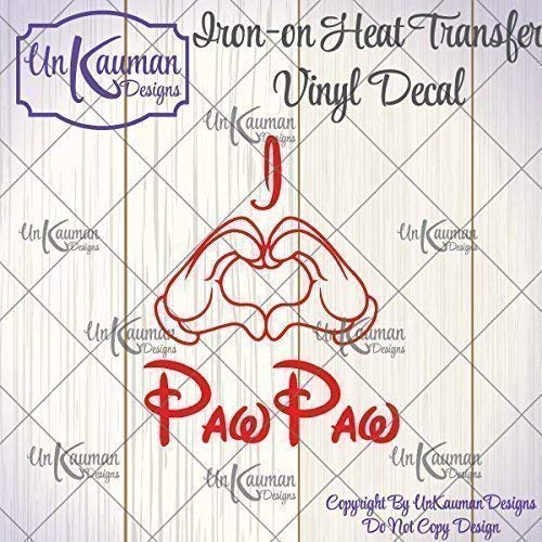 I Heart Hands PawPaw, Nana, Grandma, etc Iron On Vinyl Decal]()