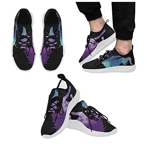 InterestPrint zombie Dolphin Ultra Light Running Shoes for Men Unicorn4