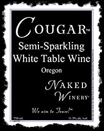 NV Naked Winery Cougar Semi Sparkling White 750 mL