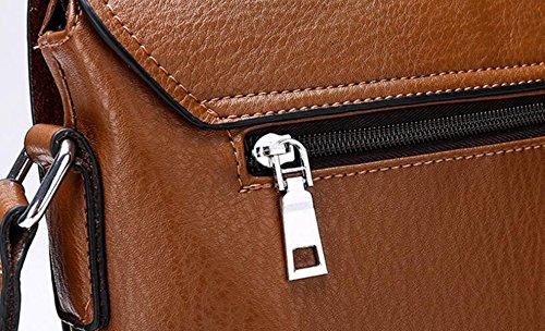 Messenger Fashion Simple Wild Men Leisure Brown3 Shoulder Bag Backpack Pu Business TwIxHIBp