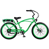 "Pedego Interceptor 26"" Classic Lime Green with Black Balloon Package 48V 15Ah"