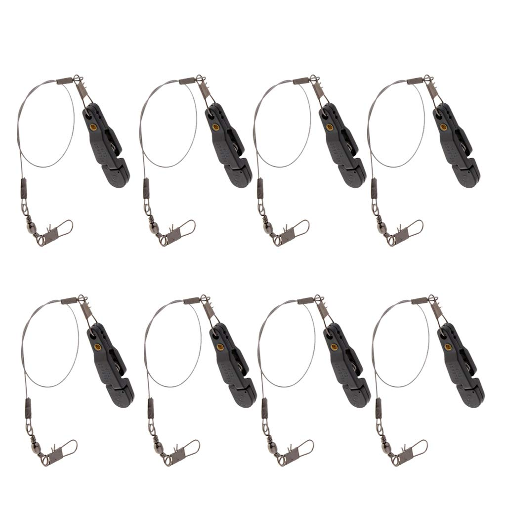 DYNWAVE 8 Pieces Snap Release Clip Adjustable Tension Downrigger Release Clip for Boat Kayak Trolling Fishing Tool