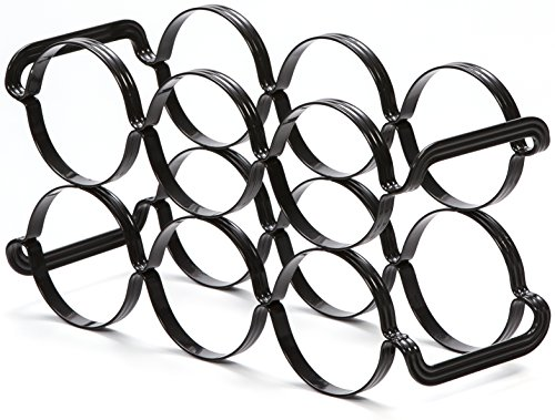 Mango Steam 6 Bottle Wine Rack (6 Bottle Wine Rack, Black) by Mango Steam (Image #2)