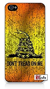 Gadsden Flag Distressed Don't Tread On Me Direct-To-Case UV Printed (NOT A STICKER) iphone 6 4.7 Quality Hard Snap On Case for iphone 6 4.7 G T Sprint Verizon - White Case Cover