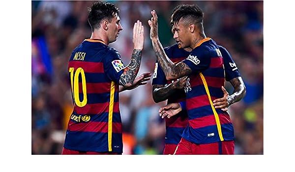 Neymar JR cartel adhesivo pared Messi balón de fútbol Copa Mundial ...