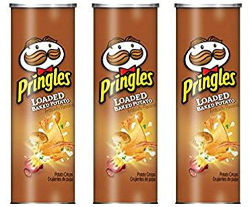 (Pringles Loaded Baked Potato, Potato Crisps, 5.5 oz (Pack of 3))