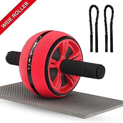 Ab Roller, Ab Roller Wheel for Men and Women, Home Abdominal Exercise Fitness Equipment Core Workout Machine - with Resistant Band and Knee pad