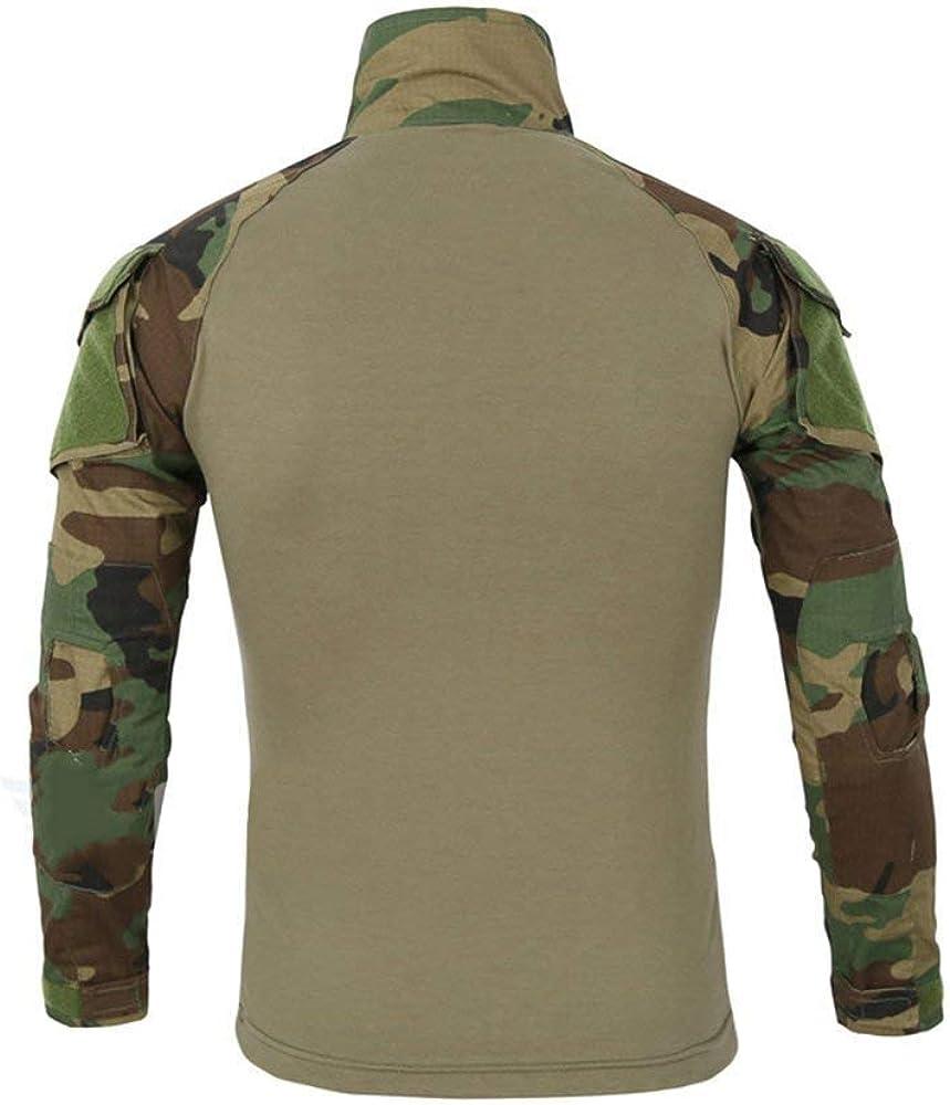 Hombres Manga Larga Cuello Alto Camiseta De Camo Camiseta Combate Ocasional Militar Rapid Assault Zipper Sport Tops Camiseta Slim Fit Camisetas (Color : Armee Grünes, Size : S): Amazon.es: Ropa y accesorios