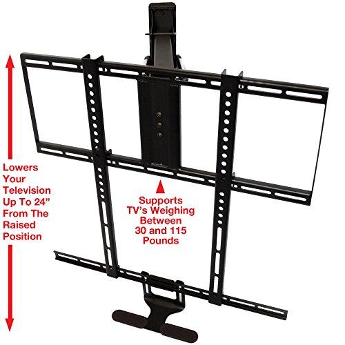mantelmount pull down tv mount bracket w full motion for. Black Bedroom Furniture Sets. Home Design Ideas