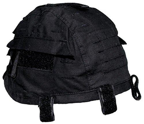 Helmbezug mit Taschen, größenverstellbar, schwarz