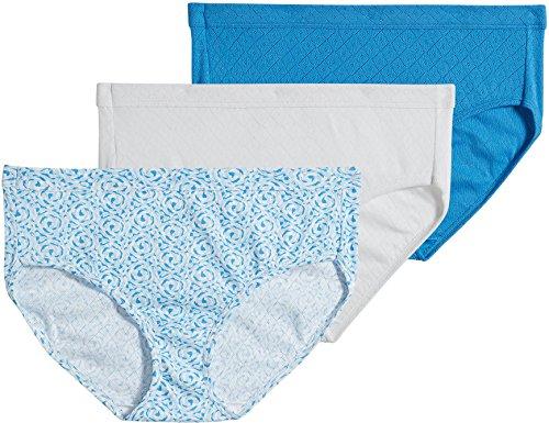 Jockey Women's Underwear Elance Breathe Hipster - 3 Pack (8, Heather (Blue Hipster Underwear)