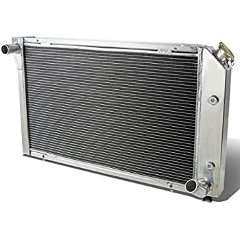 "3-ROW//CORE ALUMINUM RACING RADIATOR+2X 12/"" FANS 73-76 CHEVY CORVETTE V8 5.7//7.4"