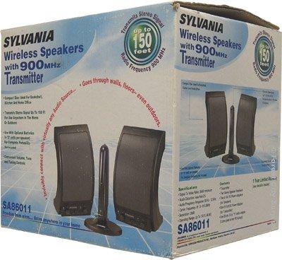 Sylvania 900 MHz Wireless Stereo Speakers SA86011 Amazonca Electronics