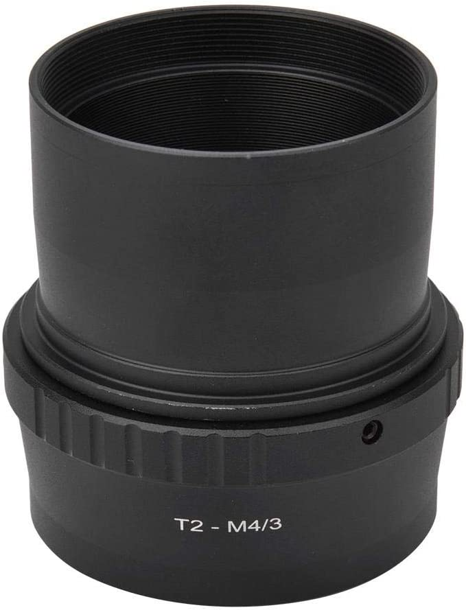 Mugast T2-M43 Metal Adapter Ring for Telescope Adapter for 2inch T Mount Astronomical Telescope to for Olympus M43 Mount Mirrorless Camera