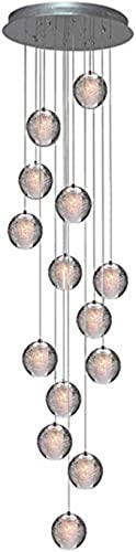 Crystal Chandelier Modern Pendant Light LED Raindrop Ceiling Lamp Crystal Ball Hanging Fixture Lighting 14-Light G4 Staircase Living Room Hotel Hallway Foyer Entry Way