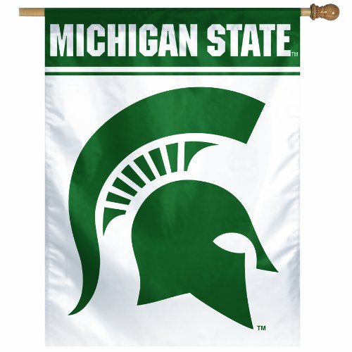 NCAA Michigan State Spartans  27-by-37 inch Vertical Flag