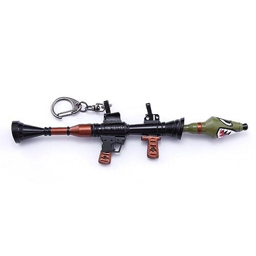 Llavero de metal con diseño de tiburón y pistola, de la ...