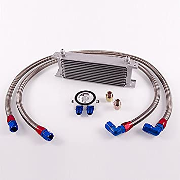 Equipo para adaptación de radiador de aceite de 13 filas (dash 8, longitud: 110/130 cm): Amazon.es: Coche y moto