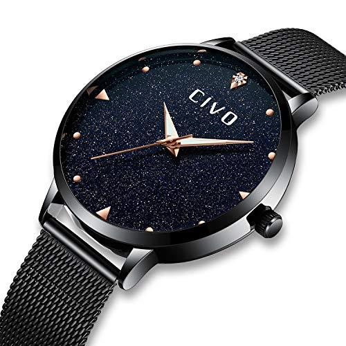 - CIVO Women Watches Ladies Stainless Steel Watch Waterproof Luxury Fashion Elegant Watches for Woman Girls Business Dress Analogue Quartz Wrist Watch