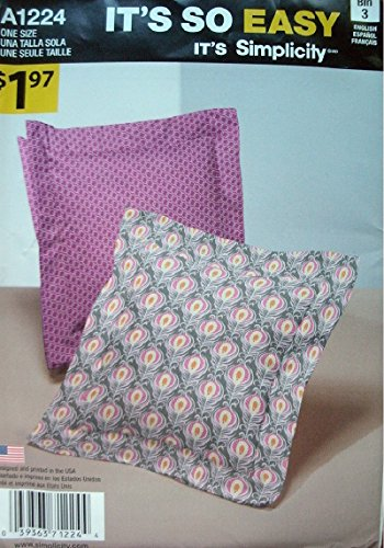 Simplicity It's So Easy Pattern 1224 Easy 14 Inch Square Pillow Pattern - Very Easy to Sew