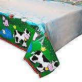 "Farm Party Plastic Tablecloth, 84"" x 54"""