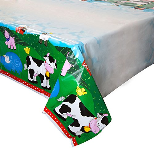 Farm Party Plastic Tablecloth, 84
