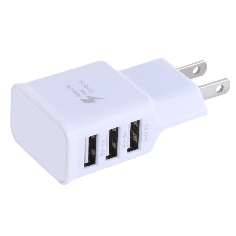 ❤️Ordee❤️ Travel 5V 2A 3Ports USB US Wall AC Adptive Fast Charger Adapter for Samsung