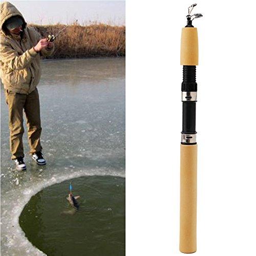 "Delight eShop 31.5""Pocket Winter Ice Fishing Fish Rod Fishing Mini Tackle Ultralight Portable"