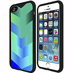 Teal Gradient Arrows Rubber Snap on Phone Case (iPhone 6 Plus)