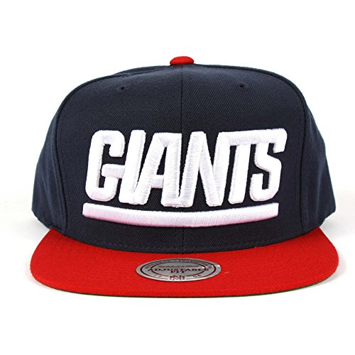 NFL Mitchell   Ness New York Giants Throwback XL Logo 2T Snapback Hat -  Navy Blue Red - Buy Online in Oman.  a119cb8d7e0