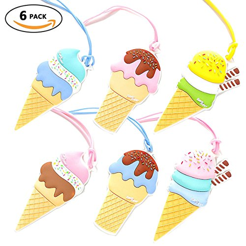 Ice Cream Luggage Tags, Travel Suitcases Identifiers Labels,