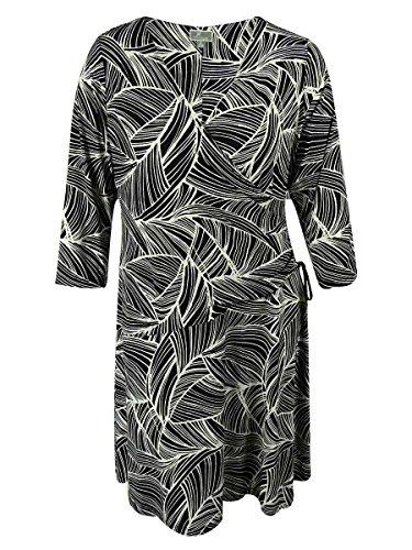 Swirl Print Dress (Jm Collection Plus Size Swirl Print Faux Wrap Dress 0x)