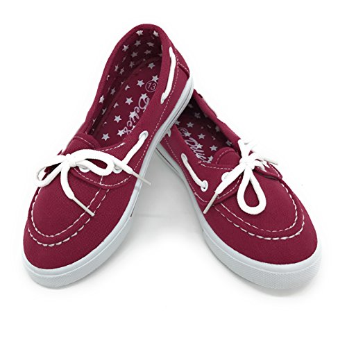 Price comparison product image Blue Berry EASY21 Baby Toddler Girs Canvas Casual Sneaker Shoes,Burgundy82,11 M US Little Kid